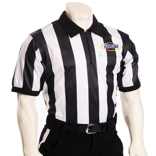 "Kentucky KHSAA Embroidered SS 2"" Stripe Football Referee Shirt"