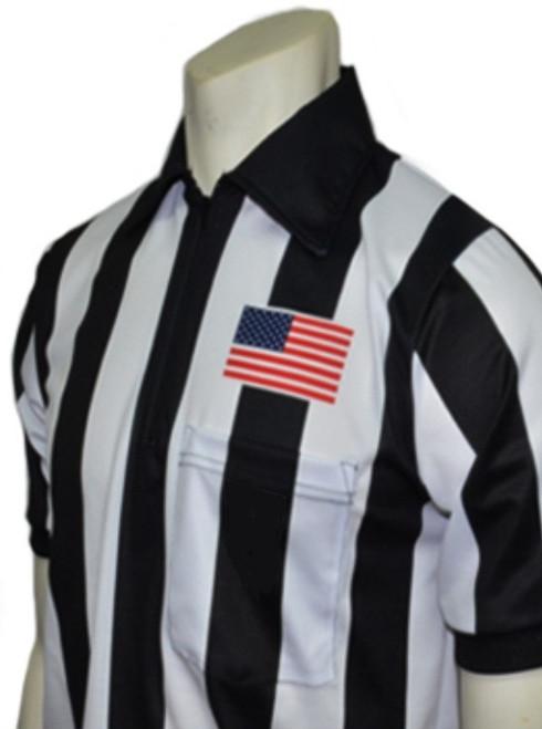"""Smitty Body Flex® 2"""" Stripe Short Sleeve Football Referee Shirt"""