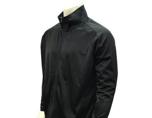 Black Referee Pregame Jacket with Cadet Collar