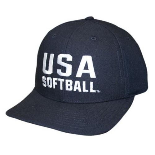 USA Softball Adjustable Wool 3 inch 8-stitch Umpire Cap