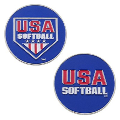 USA Softball Umpire Flipping Coins