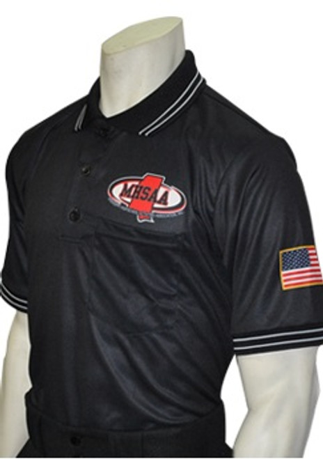 Mississippi MHSAA Dye Sublimated Black Umpire Shirt