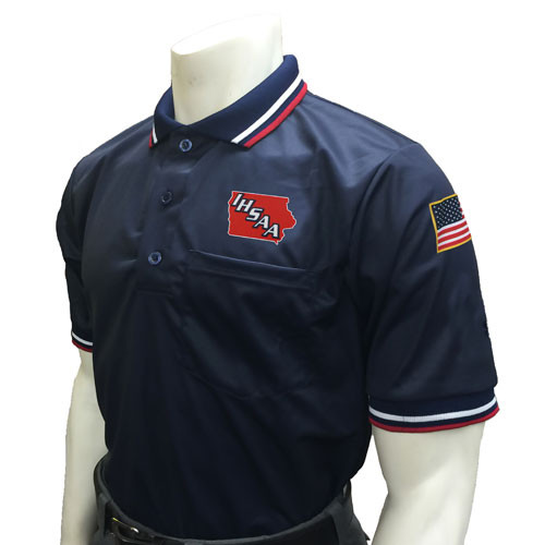 Iowa IHSAA Embroidered Navy Umpire Shirt