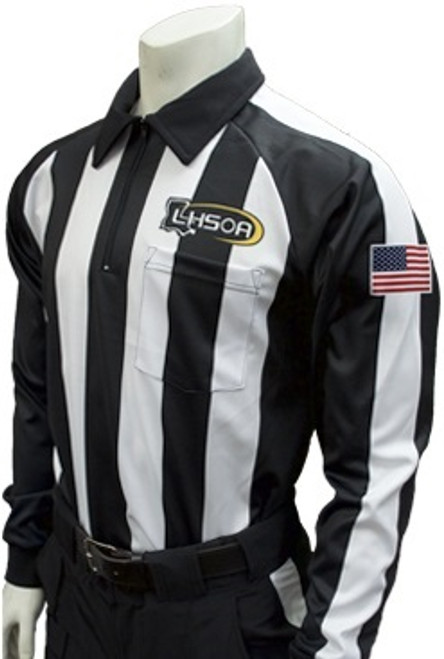 Louisiana LHSOA Foul Weather Long Sleeve Football Referee Shirt