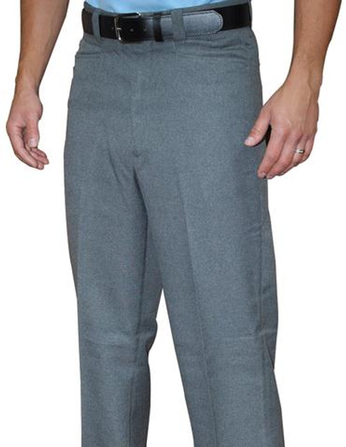 Smitty Heather Performance Poly-Spandex Flat Front Combo Umpire Pants