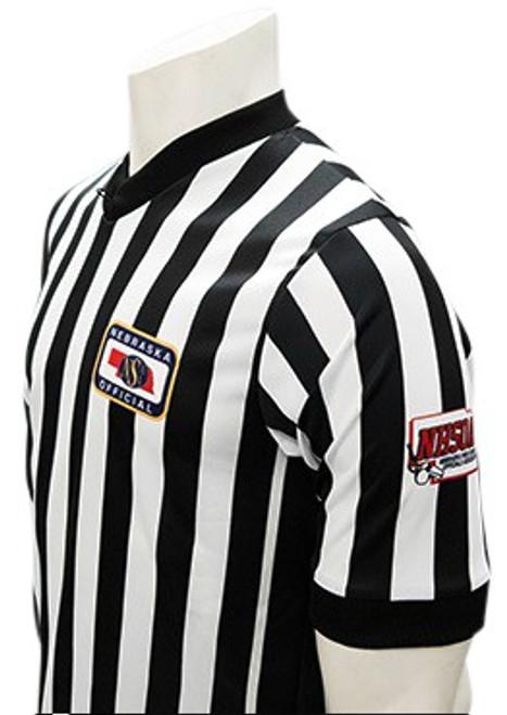 Nebraska NSAA Dye Sublimated Side Panel NHSOA Basketball Referee Shirt
