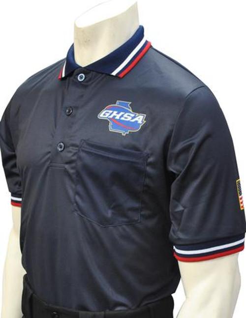 Georgia GHSA Dye Sublimated Navy Umpire Shirt