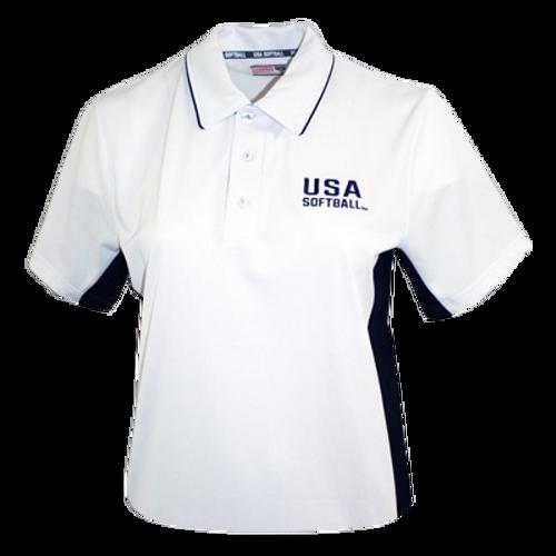USA Softball White Umpire Shirt