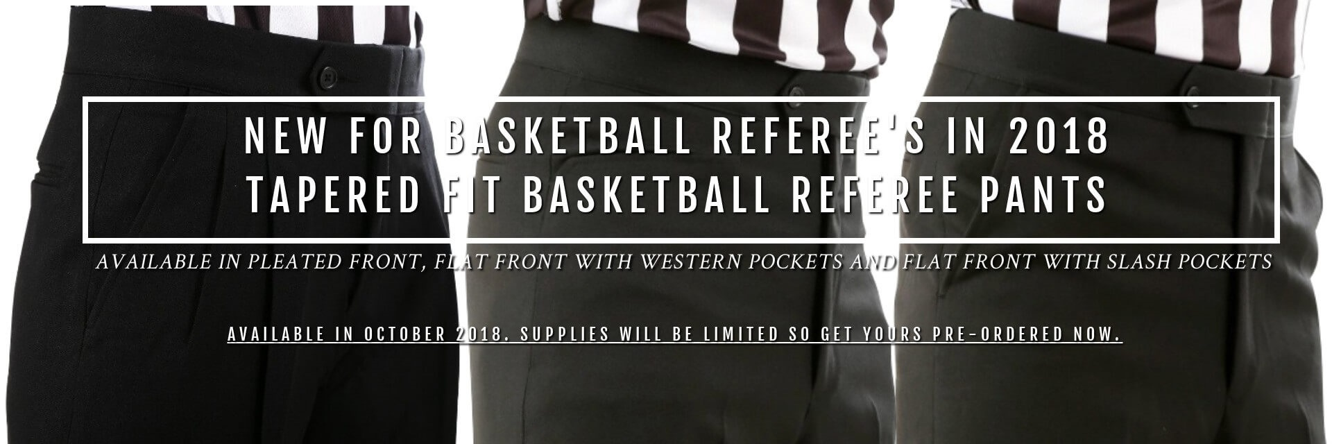 Tapered Fit Basketball Referee Pants