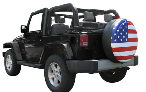 Jeep Wrangler JK American Flag Rigid Tire Cover By