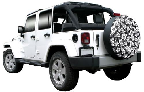 Hawaiian Print Rigid Tire Cover For Jeep Wrangler Jk