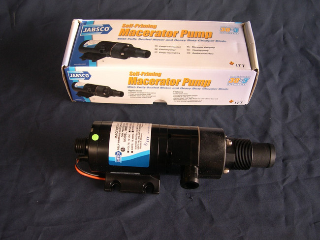 Jabsc 18590-2094 24VDC Macerator pump 12 Volt shown in the photo