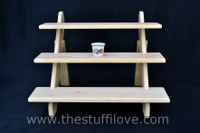 """3 Tier Collapsible Riser Tabletop Display Stand, 50 cm (19.5"""") wide."""