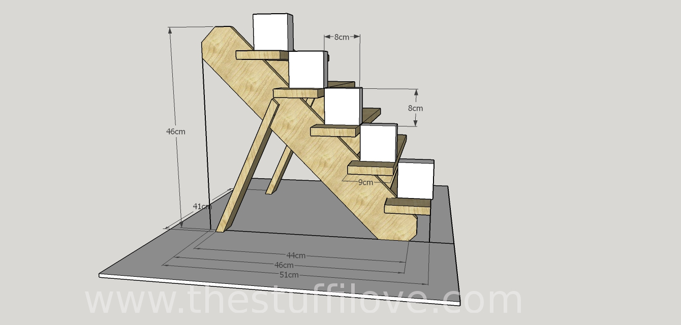 5 Tier Stand Dimentions Metric