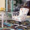 Cuba Tilt Swivel Caster Chair  in Rustic Driftwood Finish