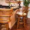 Singapore Barstools in Sienna finish