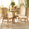 """Bayview 42"""" Dining Table With Bevelled Glass Top"""