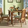 Bayview Square Dining Table With Glass Top