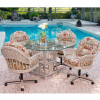 Bridgeport Dining Collection in Rustic Driftwood finish