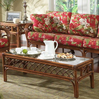Grand Isle Coffee Table With Glass Top
