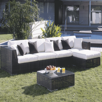 Atlantis 6 pc. Outdoor Wicker Sectional