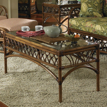 Orchard Park Coffee Table With Glass Top