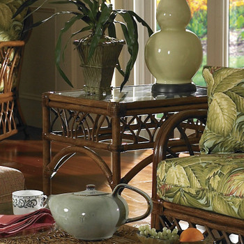 Orchard Park End Table With Glass Top