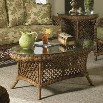 Summer Nites Coffee Table With Glass Top