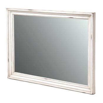 Monaco Mirror in a distressed blanc finish