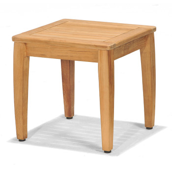The Laguna Outdoor End Table is made from plantation teak.