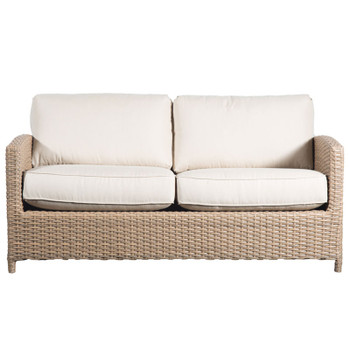 Lodge Outdoor Full Sofa - Fife Ecru Fabric - front