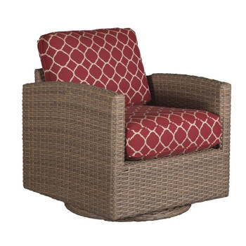 Lodge Outdoor Swivel Glider - Accord Crimson Fabric