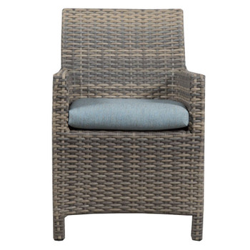 Mambo Outdoor Center Matched Arm Chair - Adena Azure Fabric - front