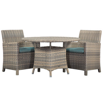 Mambo Outdoor 3pc Dining Set with Arm Chairs