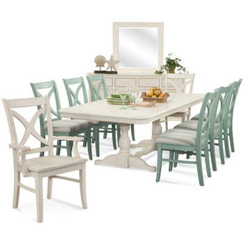 Hues 9 pc Rectangular Extension Dining Set with Buffet & Mirror