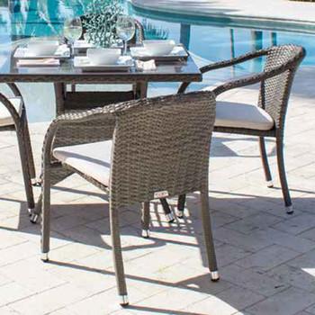 Spectrum Outdoor Stackable Woven Side Chair