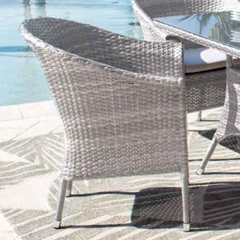 Santorini Outdoor Stackable Woven Armchair