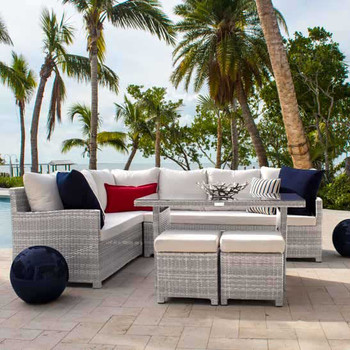 Santorini 5 pc. Outdoor Sectional Dining Set