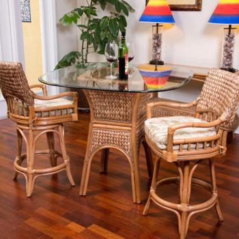 Key Largo 3 pc. Counter Set in Antique Honey finish