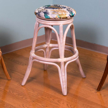 Universal Backless Counterstool in Rustic Driftwood finish