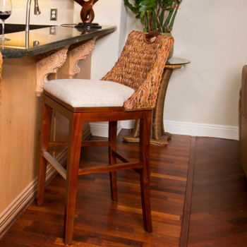 "Belize 30"" Barstool in Sienna finish"