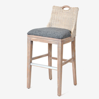 "Belize 30"" Barstool in Rustic Driftwood finish"