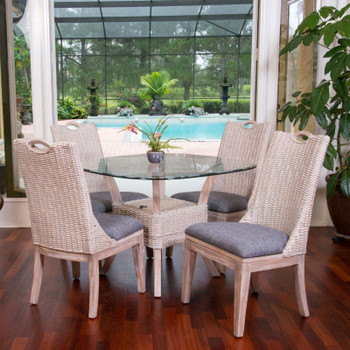 Belize 5 pc. Dining Set with Side Chairs in Rustic Driftwood finish
