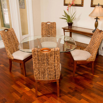 Belize 5 pc. Dining Set with Side Chairs in Sienna finish