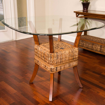 Belize Dining Table With Glass Top