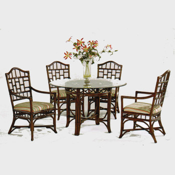 Chippendale 5 PC Round Dining Set with Arm Chairs
