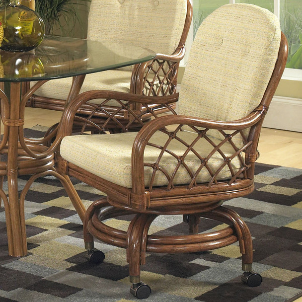 Grand Isle Caster Swivel Rock Dining Chairs