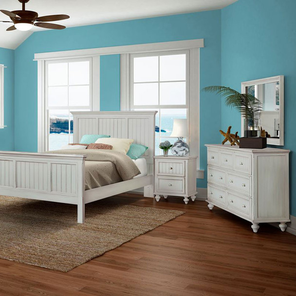 Monaco Bedroom Collection in a blanc finish
