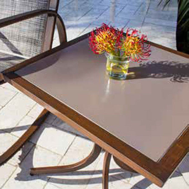 Valdosta Outdoor Square End Table w/Tempered Glass