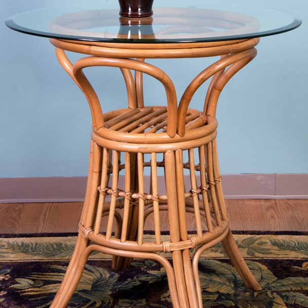 Universal Counter Table with Glass Top in Antique Honey finish